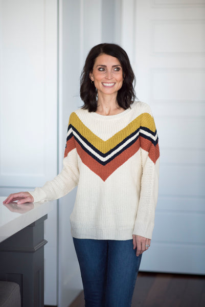 Cindy Chevron Sweater