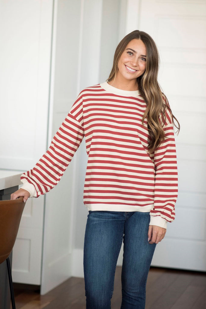 Shanna Stripe Textured Top