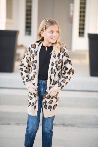 Lynne Leopard Cardigan for Girls
