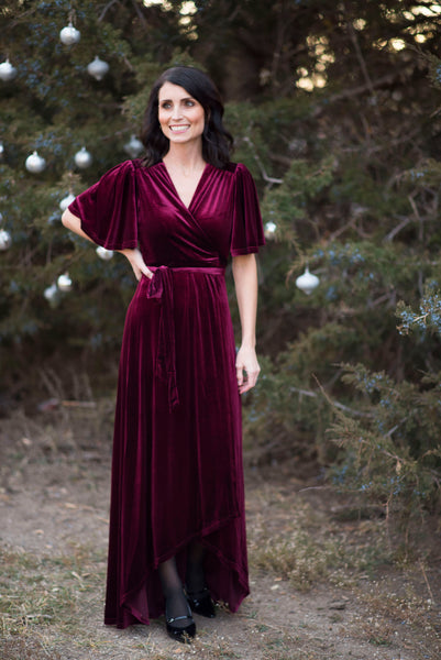 Holly Velvet Wrap Maxi