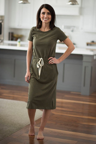 Calie Dress in Olive