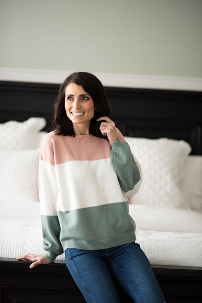 Mollie Color Block Sweater