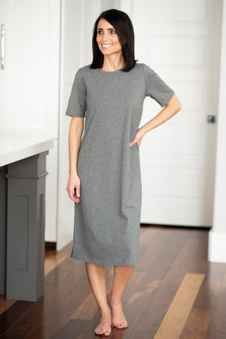 Frankie Tee Shirt Dress in Grey