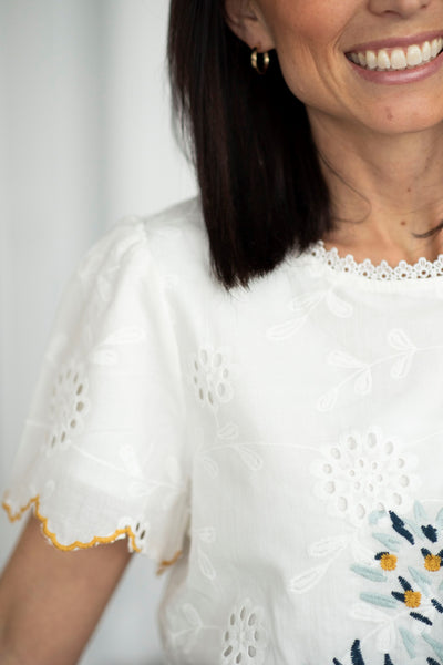 Gretta Embroidered Top