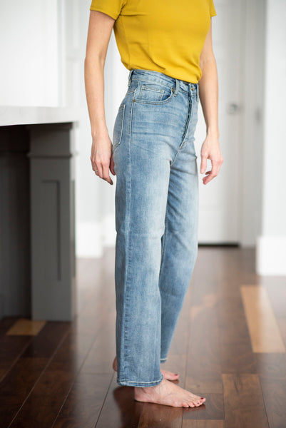 Collin Wide Leg Button Up Jeans