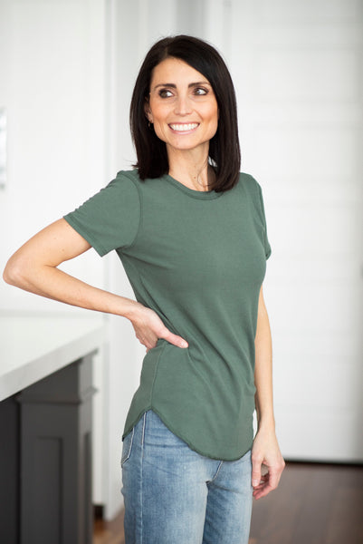 Eisley Ribbed Top in Green
