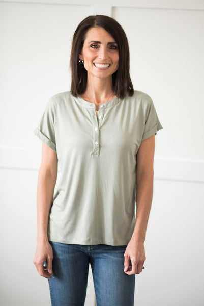 Cora Top in Sage