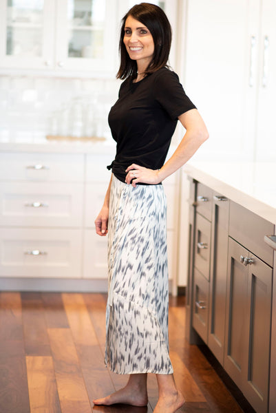 Norah Brush Stroke Wrap Skirt