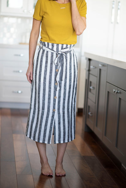 Winn Stripe Paperbag Skirt