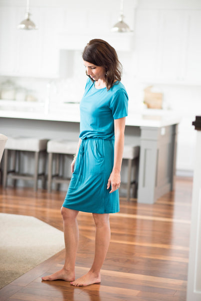 Jasmine Dress in Teal