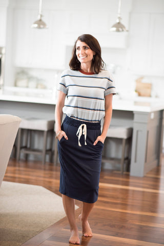 Cameron Skirt in Navy