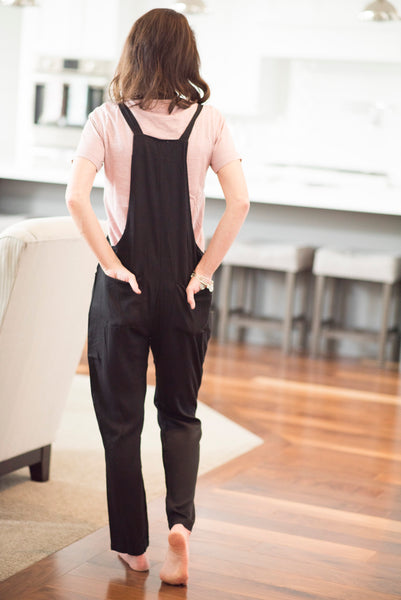 Billie Tie Strap Jumpsuit in Black