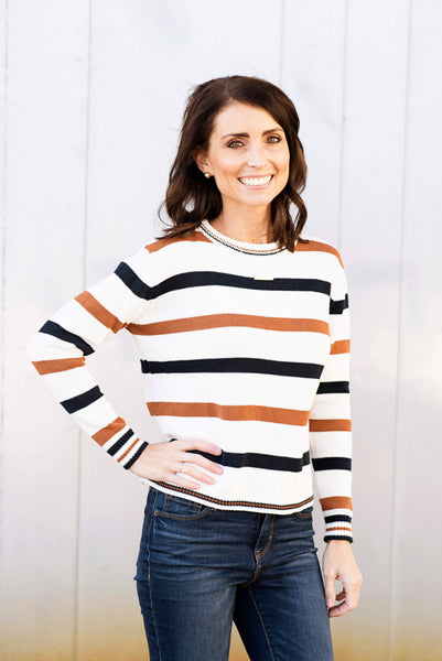 Jenna Stripe Sweater