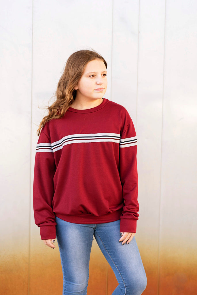 Tiana Sweatshirt in Burgundy