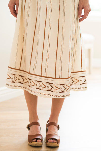 Bridgette Embroidered Midi Dress
