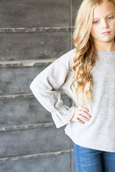 Ambria Cinched Sleeve Sweater