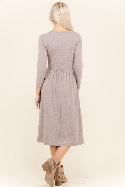 Presley Zip Front Sweater Dress