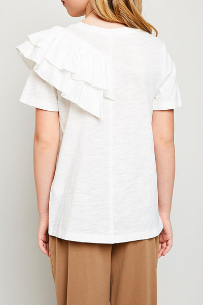 Addie Asymmetrical Ruffle Top