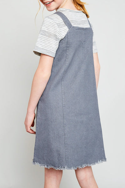 Wells Overall Jumper in Grey