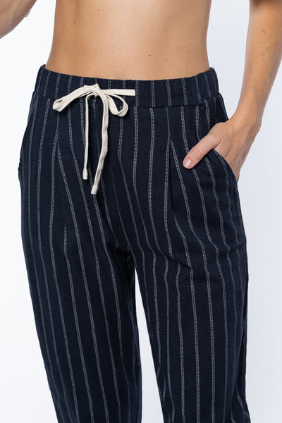 Mandie Pin Stripe Pant in Navy