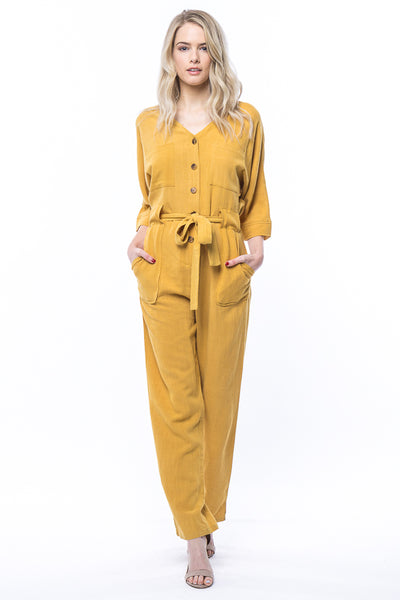 Dallas Jumpsuit in Mustard