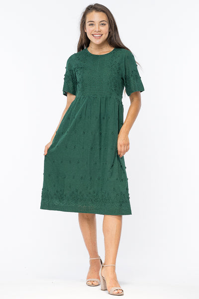 Candice Dress in Hunter Green