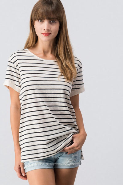 Melissa Womens Navy/White Top