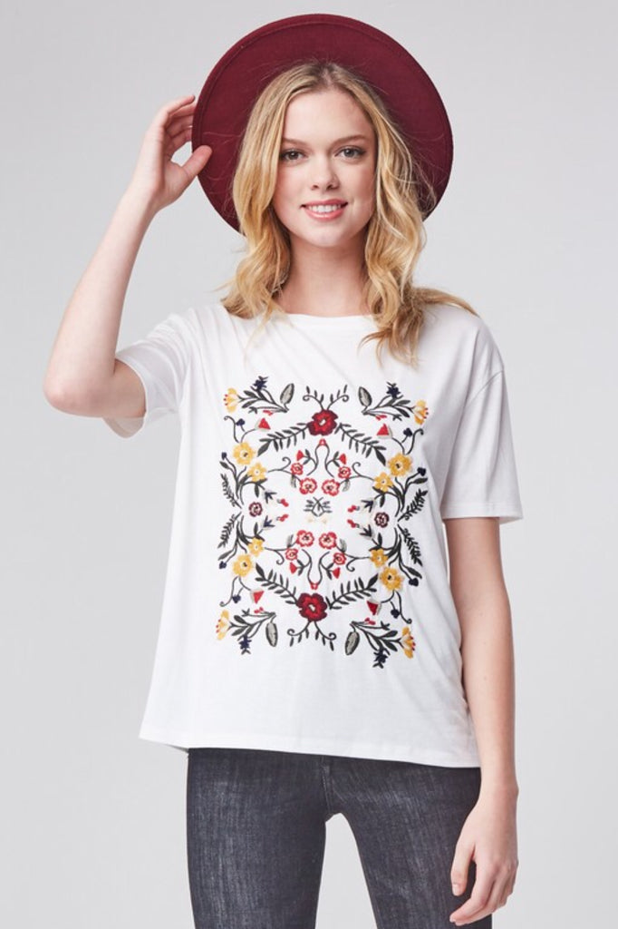 Capri Embroidered Top