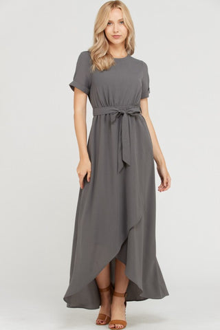 Belle Dress in Charcoal