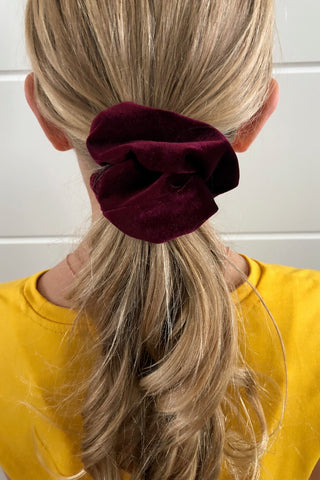 Burgundy Velvet Scrunchie