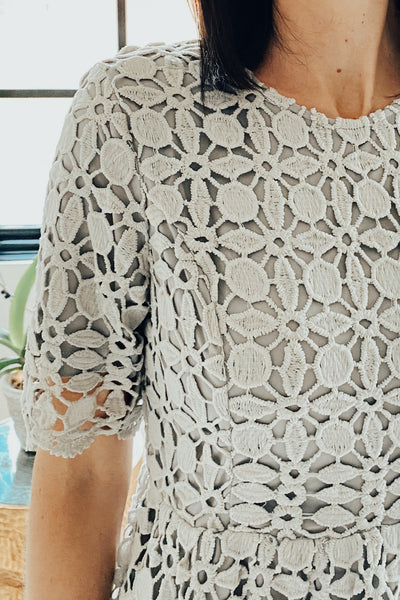 Azlyn Lace Dress in Grey