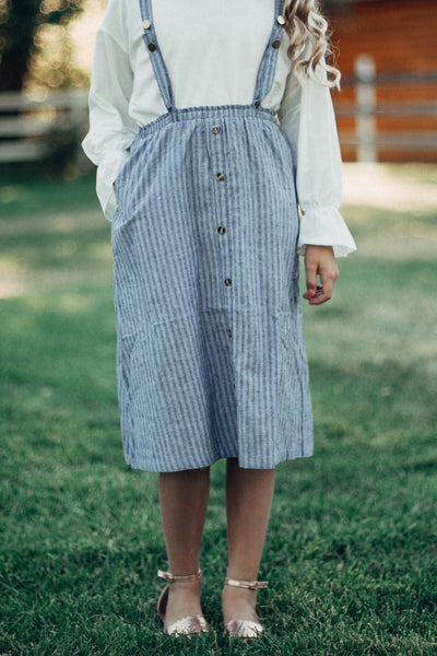Brooke Stripe Overall Dress