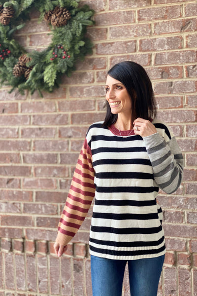 Shauna Stripe Sweater