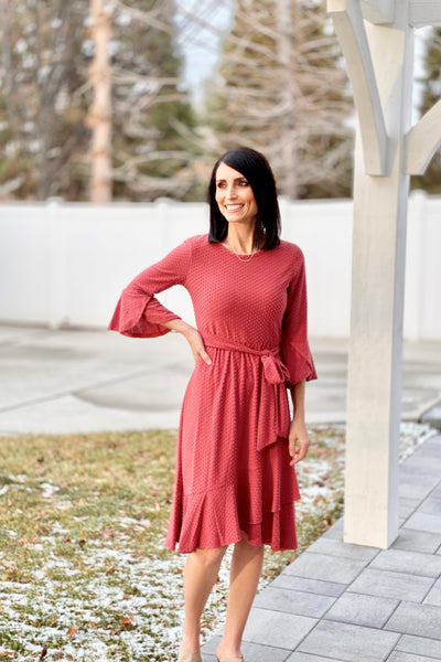 Brandy Ruffle Dot Dress