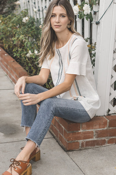 Cadence Embroidered Top