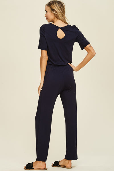 Sadie Long Pant Jumper in Navy