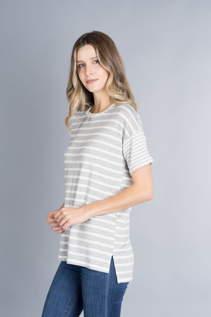 Whitney Contrast Sleeve Top