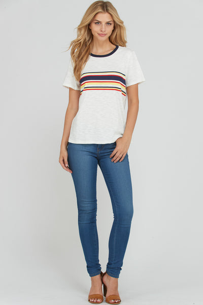 Adrian Stripe Front Tee