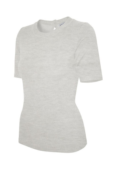Kit Knit Top in Heather Grey