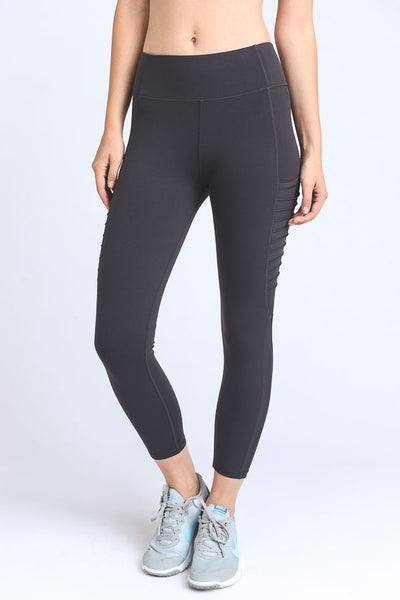 Moto Pocket Leggings in Charcoal Grey