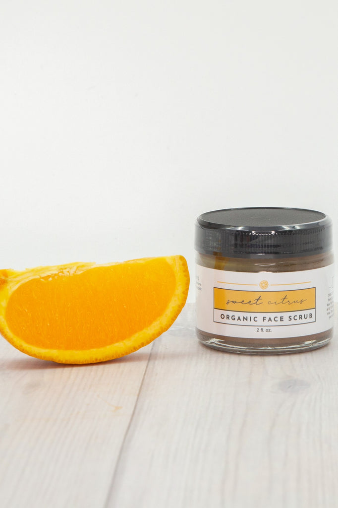 Just Ingredients Sweet Citrus Organic Face Scrub - Local Pick Up Only
