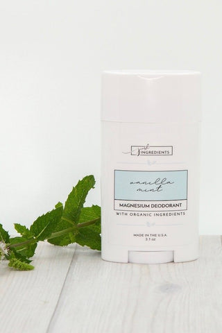 Just Ingredients Vanilla Mint Magnesium Deodorant - Local Pick Up Only