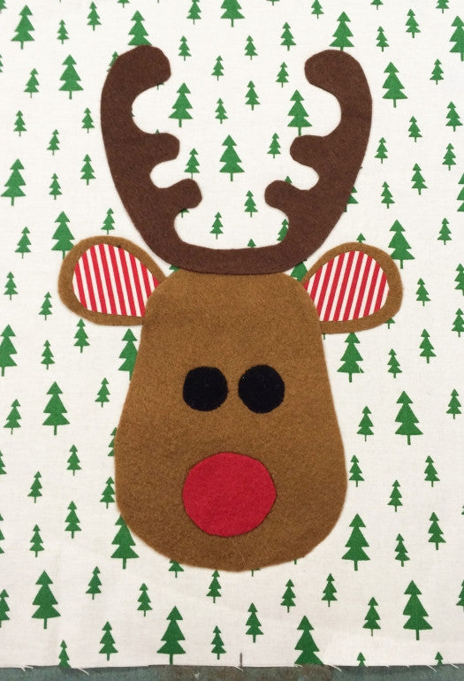 Santa Sacks & Rudolph Applique FREE PATTERN download by Felicity Patterns