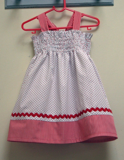 FREE PATTERN TUTORIAL!  Girl's Shirred Dress or Top