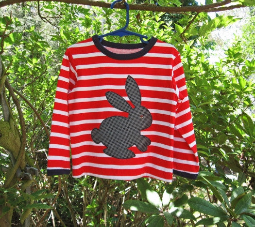 Kids T shirt sewing pattern DUDLEY T SHIRT + Bunny applique, boys & girls sizes 9 mths - 12 yrs - Felicity Sewing Patterns