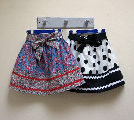 Girls easy skirt sewing pattern, KITTY SKIRT Sizes 2-12 years by Felicity Sewing Patterns