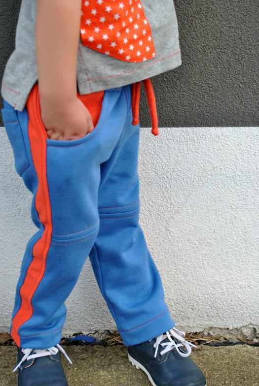 Kids fleece pants sewing pattern ROSCOE PANTS boys & girls sizes 2 to 12 years. - Felicity Sewing Patterns