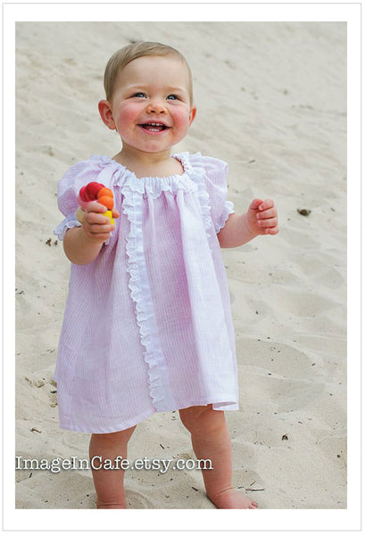SWEET PEA DRESS girl & toddler pdf dress pattern sizes 1-10 years. 3 variations included. - Felicity Sewing Patterns