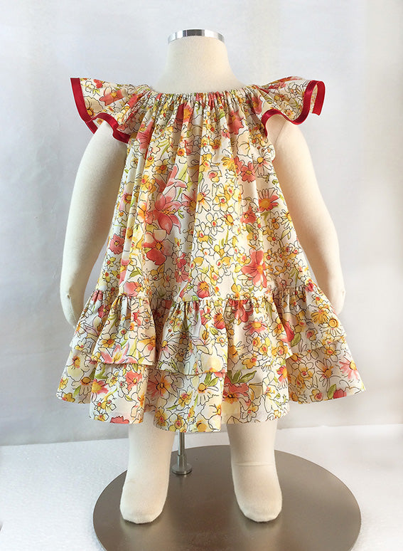 Girl's dress pattern Butterfly Dress sewing pattern and tutorial, sizes 6-9 months to 10 years. - Felicity Sewing Patterns
