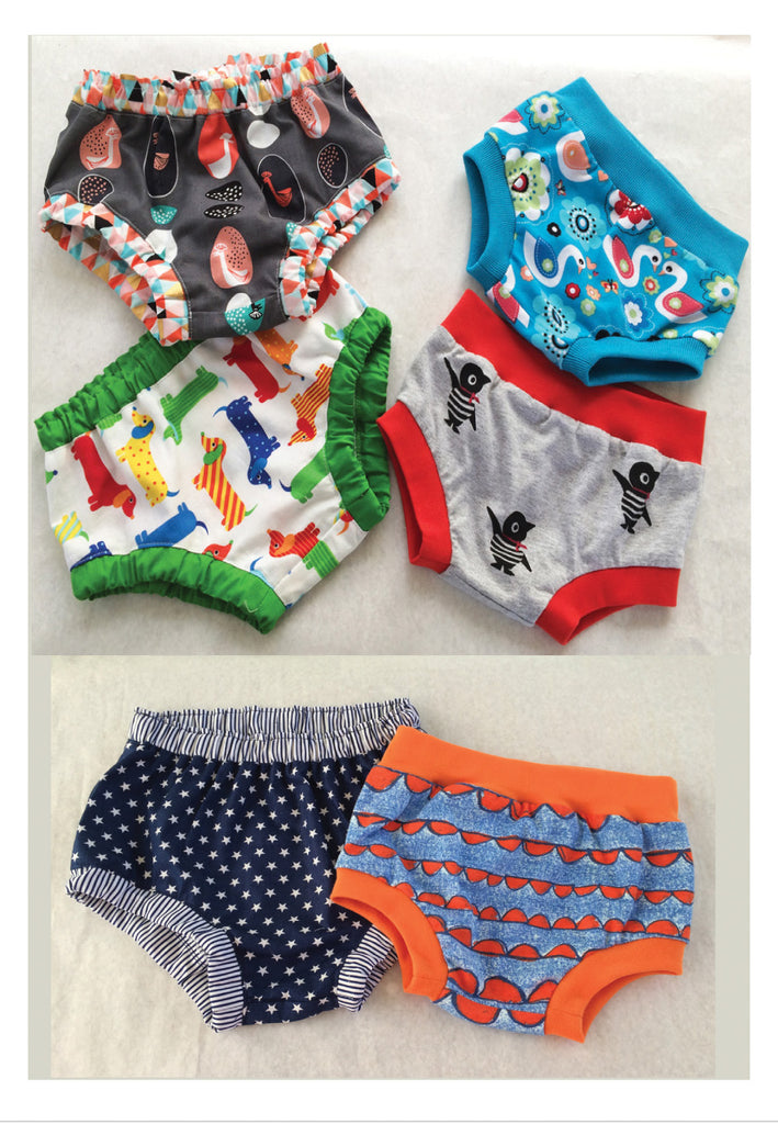 Baby Over Pants/ Diaper Cover pdf sewing pattern, 3+ months - 4 years, boys & girls. - Felicity Sewing Patterns